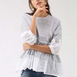 Chicwish dolly eyelet blouse